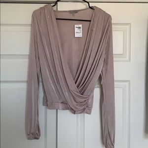 Charlotte Russe open front blouse